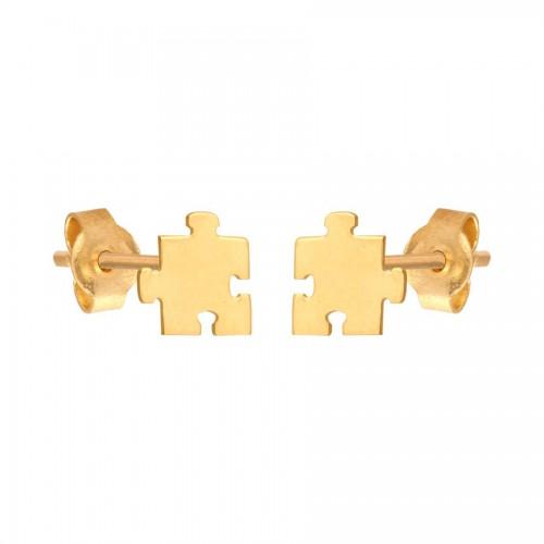 Złote kolczyki - delikatne puzzle