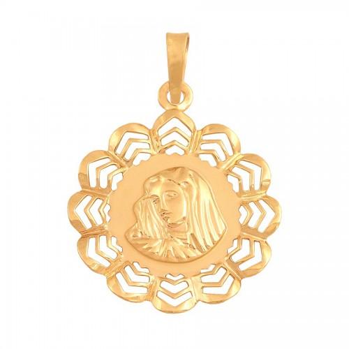Złoty medalik z wizerunkiem Matki Boskiej