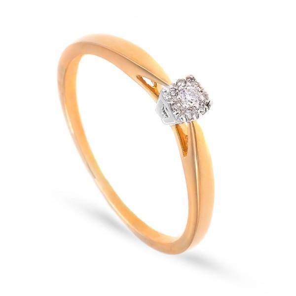 Delikatny pierścionek z brylantem 0.04 ct