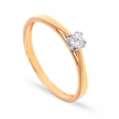 Zaręczynowy pierścionek z brylantem 0.15 ct