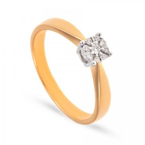 Pierścionek zaręczynowy z brylantami 0.05 ct