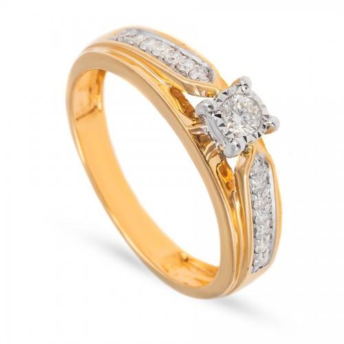 Bardzo okazały pierścionek z brylantami