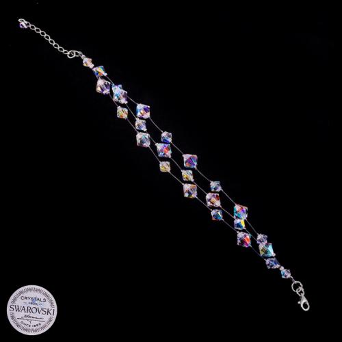 Piękna bransoleta z Kryształów Swarovski