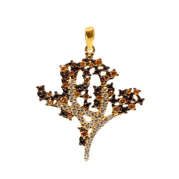 Złote drzewko szczęścia z cyrkoniami