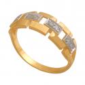 Przepiękny pierścionek złoty zdobiony cyrkoniami