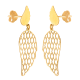 Kolczyki złote ażurowe skrzydełka
