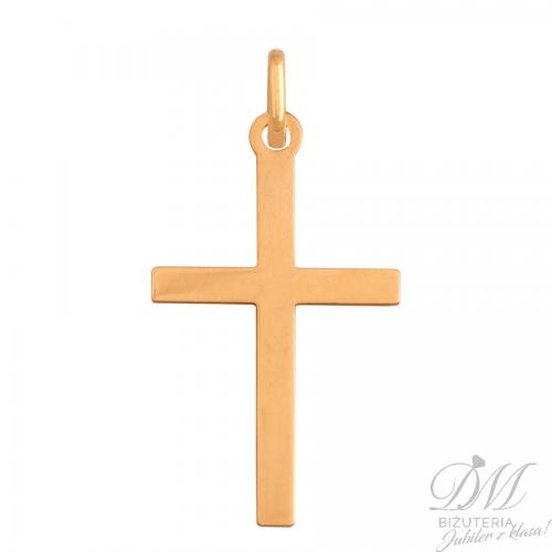 Złoty Krzyżyk o gładkiej powierzchni