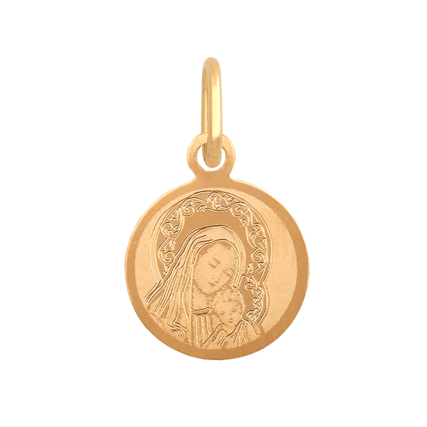 Mały Medalik z wizerunkiem Matki Boskiej