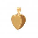 Złota przywieszka - serduszko puzderko