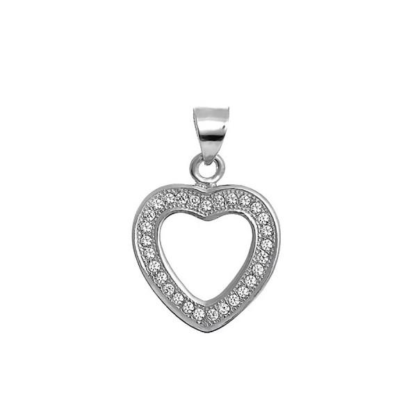 Przywieszka w kształcie serca zdobiona cyrkoniami