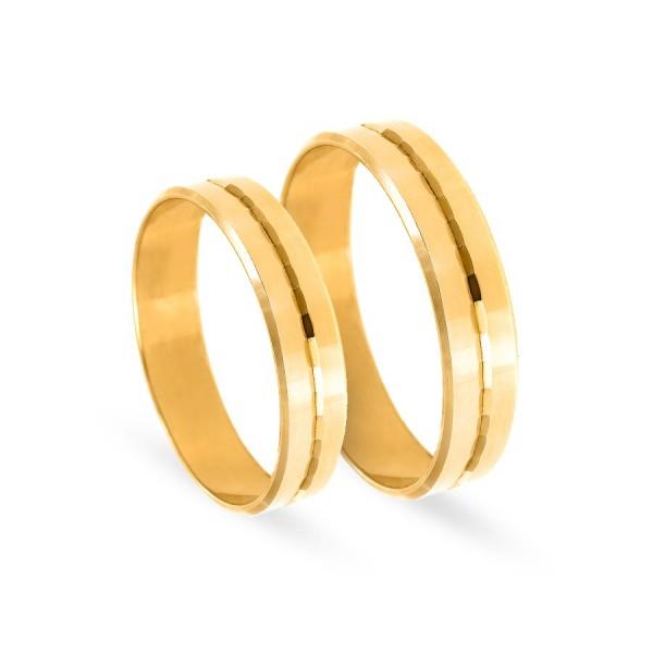Obrączki ślubne płaskie z diamentowaniem