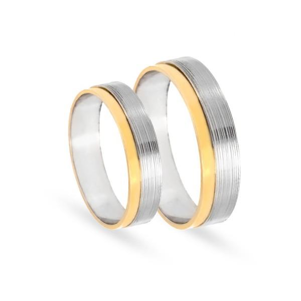 Obrączki ślubne z białego złota 5 mm