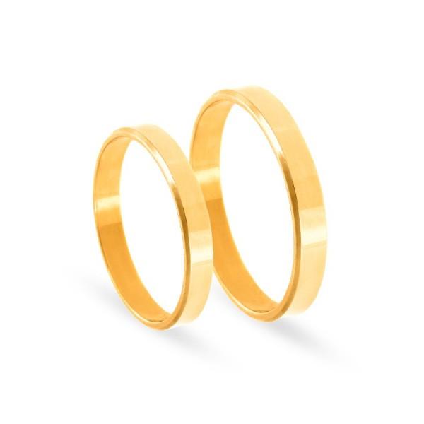 Obrączki ślubne płaskie złote 3 mm