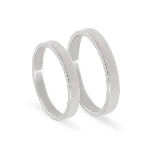 Obrączki ślubne półokrągłe klasyczne 3 mm