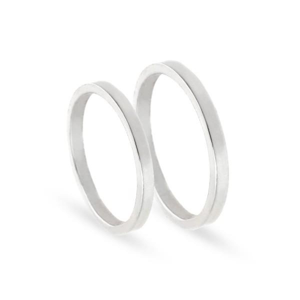 Obrączki ślubne półokrągłe błyszczące 2 mm