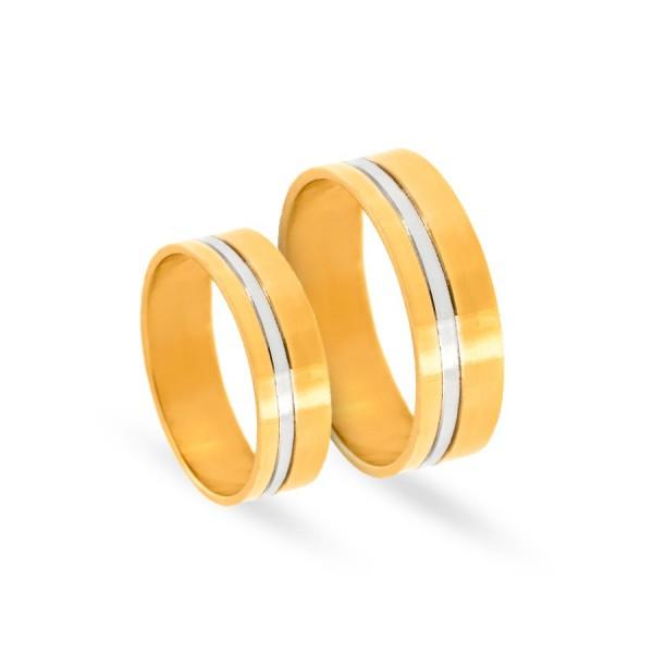 Obrączki ślubne płaskie polerowane 6 mm