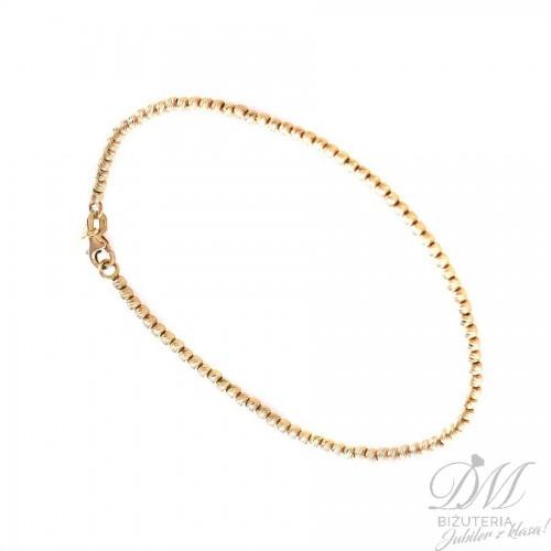 Złota bransoleta z delikatnych kuleczek