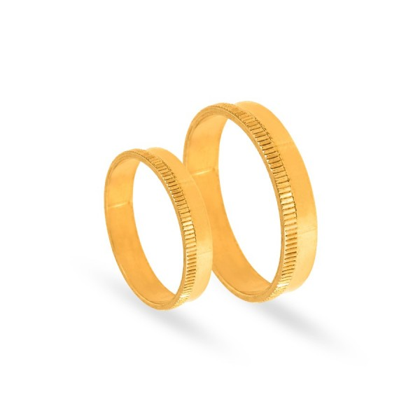 Obrączki ślubne płaskie zdobione 4 mm