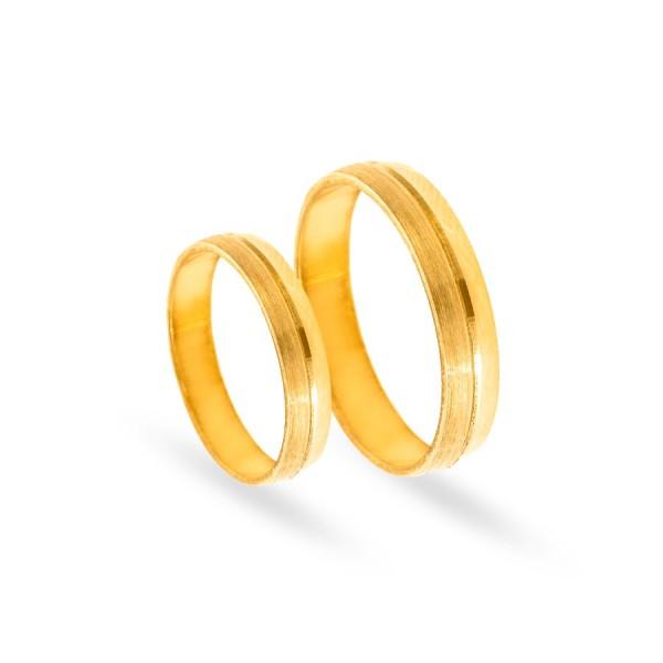 Obrączki ślubne półokrągłe satynowane 4 mm