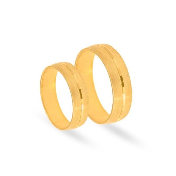 Obrączki ślubne półokrągłe satynowane 5 mm