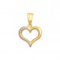 Złota przywieszka w kształcie serca