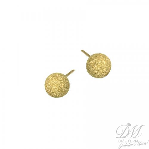 Kolczyki z pozłacanego srebra kulki