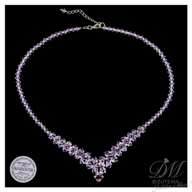 Poważnie Piękny naszyjnik z fioletowych Kryształów Swarovski   Sklep DM YQ39
