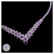 Piękny naszyjnik z fioletowych Kryształów Swarovski