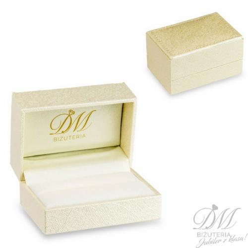 Obrączki ślubne półokrągłe matowe białe złoto 5 mm