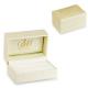 Obrączki ślubne płaskie zdobione z białego złota 5 mm