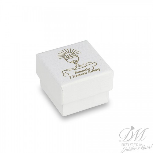 Białe pudełeczko na Komunię Świętą