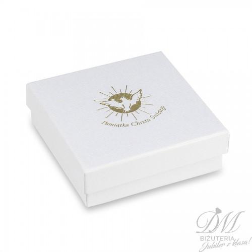 Białe pudełko na biżuterię Pamiątka Chrztu Świętego