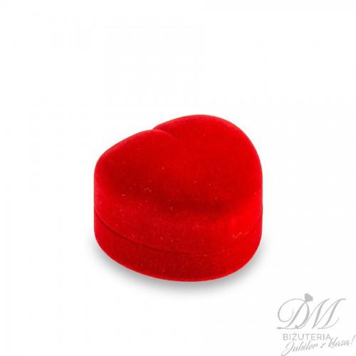 Pudełeczko na pierścionek czerwone serce
