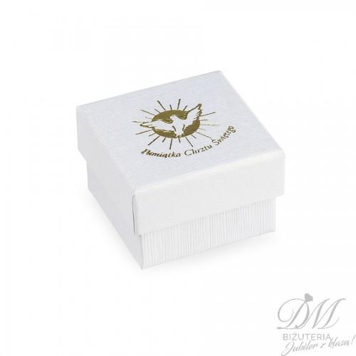 Białe pudełeczko małe na Pamiątkę Chrztu