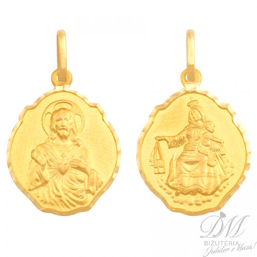 Medalik z wizerunkiem Jezusa i Matki Boskiej