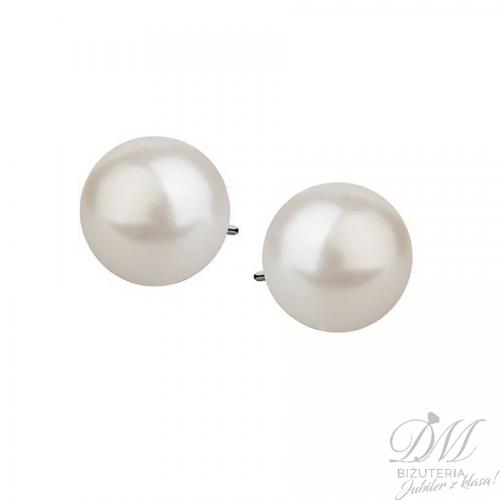Kolczyki z perłą na sztyfcie