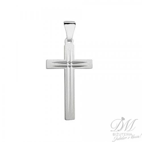 Srebrny Krzyżyk diamentowany