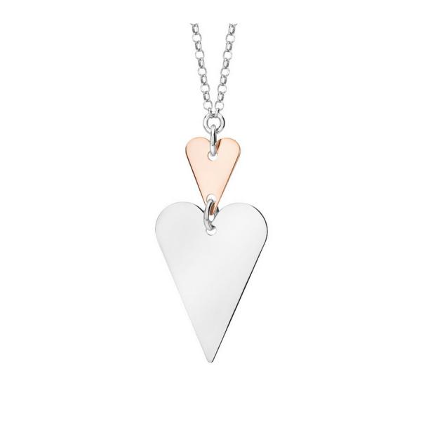 Piękny naszyjnik z dwoma sercami