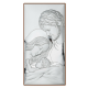 Obrazek srebrny Święta Rodzina średni