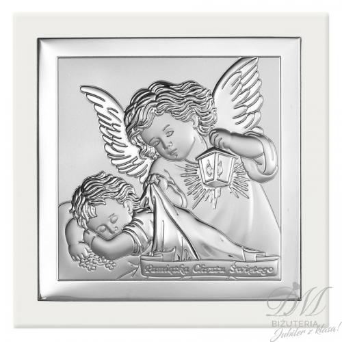 Obrazek srebrny Anioł Chrzest Święty
