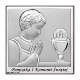 Obrazek srebrny chłopiec I Komunia Święta