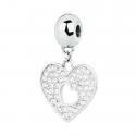 Zawieszka Charms serce z kryształami Swarovski