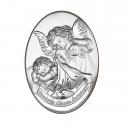 Obrazek srebrny Aniołek owal