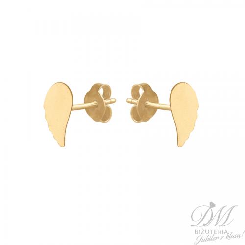 Złote skrzydełka na sztyft