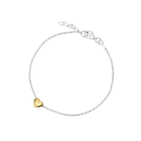 Modish Delikatna bransoleta srebrna z serduszkiem   Sklep DM Biżuteria GM57