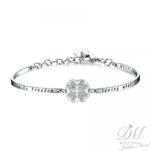 Bransoleta koniczynka z Kryształami Swarovski Chakra