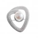 Piękna broszka z perłą