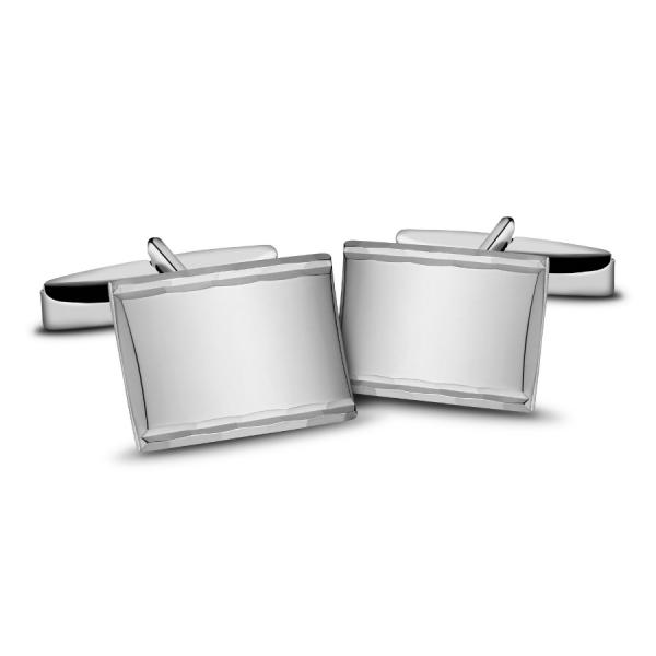 Spinki do mankietów srebrne diamentowane