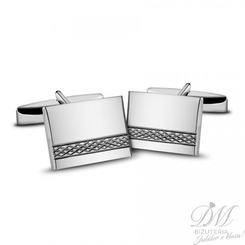 Spinki do mankietów srebrne delikatnie zdobione