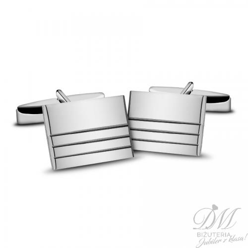 spinki do mankietów srebrne gładkie zdobione
